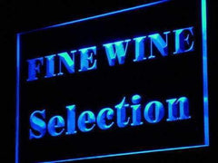 Wine Store Fine Wine Selection LED Neon Light Sign
