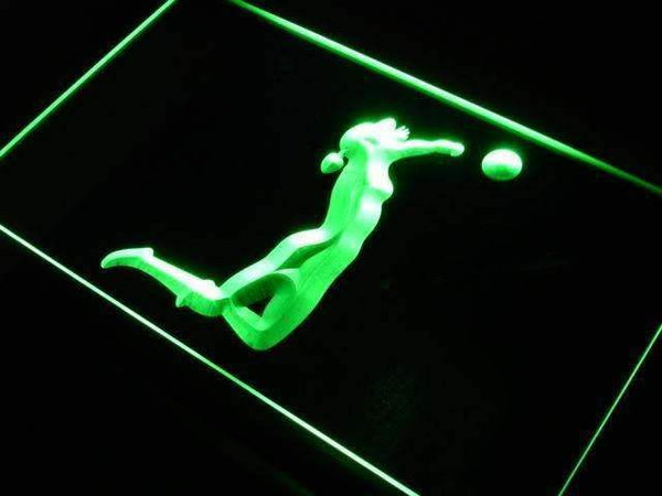 Womens Sand Volleyball LED Neon Light Sign - Way Up Gifts