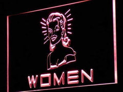 Women's Vintage Restrooms LED Neon Light Sign
