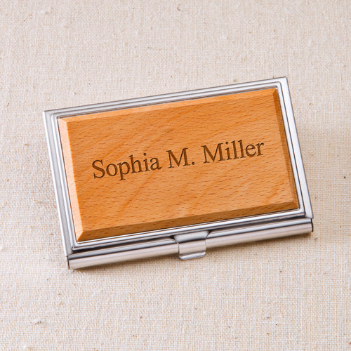 Engraved Business Card Holder - Way Up Gifts