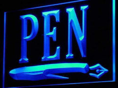 Writing Instruments Pen LED Neon Light Sign