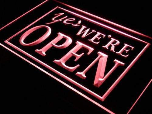 Yes We're Open LED Neon Light Sign - Way Up Gifts