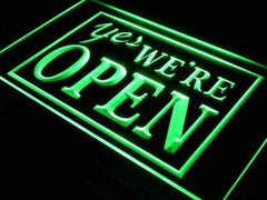 Yes We're Open LED Neon Light Sign