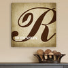 Personalized Calligraphy Monogram Canvas Print
