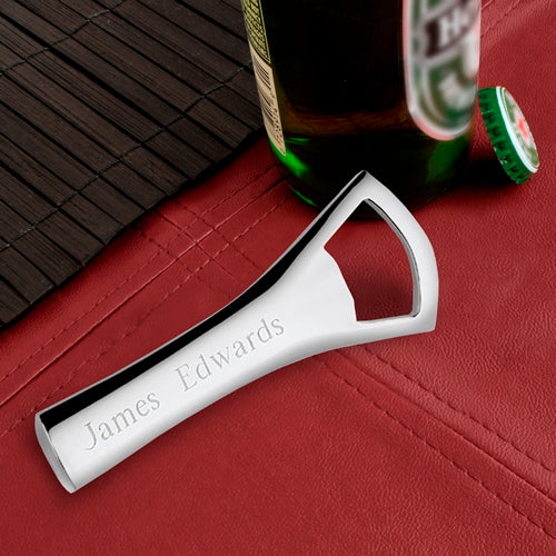 Personalized Silver Plated Bottle Opener - Way Up Gifts
