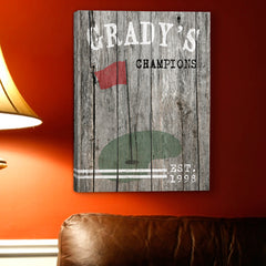 Personalized Golf Canvas Sign