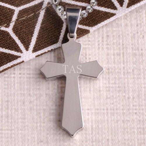 Engraved Kids Christian Cross Pendant & Chain - Way Up Gifts