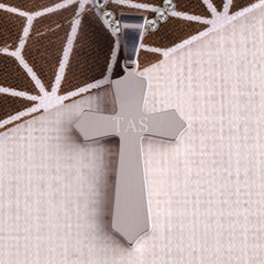 Engraved Kids Christian Cross Pendant & Chain