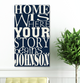 Personalized Where Our Story Begins Canvas Print