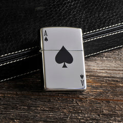 Engraved Aces Zippo Lighter