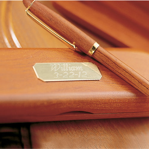 Engraved Rosewood Pen Case w/ Pen - Way Up Gifts