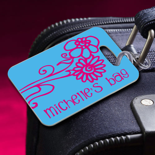 Personalized Bon Voyage Luggage Tags - Way Up Gifts