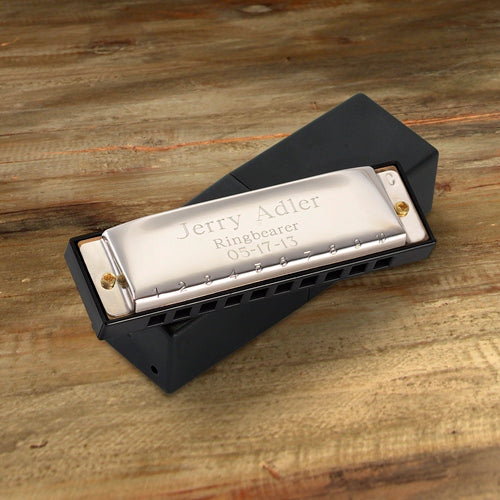 Engraved Stainless Steel Harmonica - Way Up Gifts