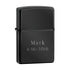 Engraved Ebony Zippo Lighter - Way Up Gifts