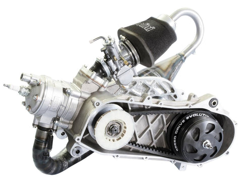 racing engine Polini Evolution P.R.E. 70cc 47,6mm for Piaggio Zip SP, Zip 2 SP with drum brakes