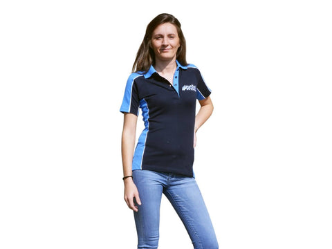 polo shirt Polini Race Team womens navy/light blue size S