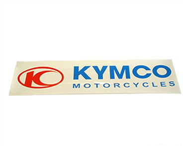 sticker Kymco 111x27mm transparent