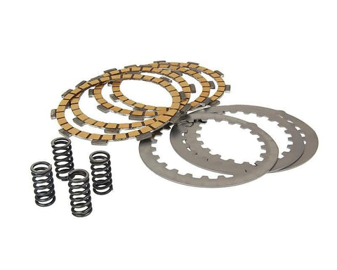 clutch plate set Top Performances aramid fiber heavy duty for Minarelli AM, Generic, KSR-Moto, Keeway, Motobi, Ride, 1E40MA, 1E40MB