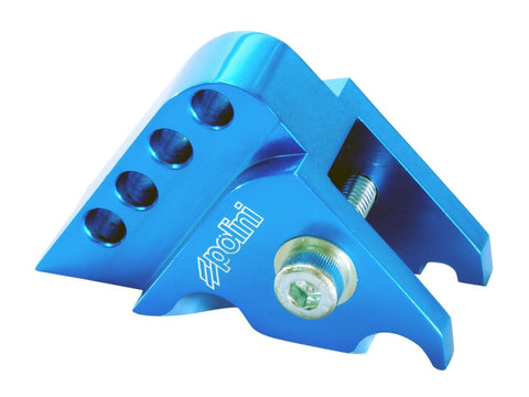 riser kit Polini CNC 4-hole blue for Minarelli horizontal