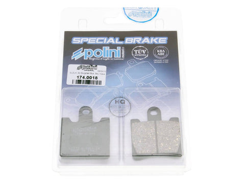brake pads Polini organic for Suzuki AN Burgman 250, 400 -2006