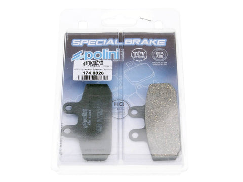 brake pads Polini organic for Honda, Aprilia, Derbi