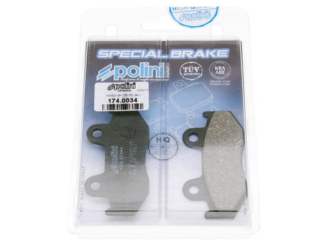 brake pads Polini organic for Honda NES SES PES / PS SH CH 125/150 4T