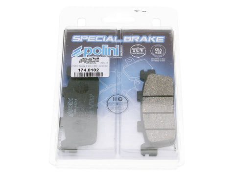 brake pads Polini organic for Kymco K-XCT, People GT, S, X-Citing, New