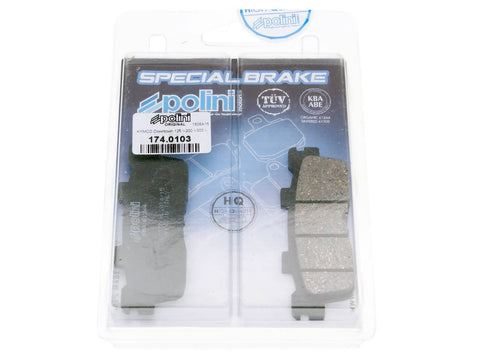 brake pads Polini organic for Kymco Downtown 125, 300