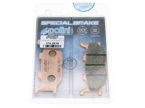 brake pads Polini sintered for Italjet Jupiter, Yamaha Majesty, MBK