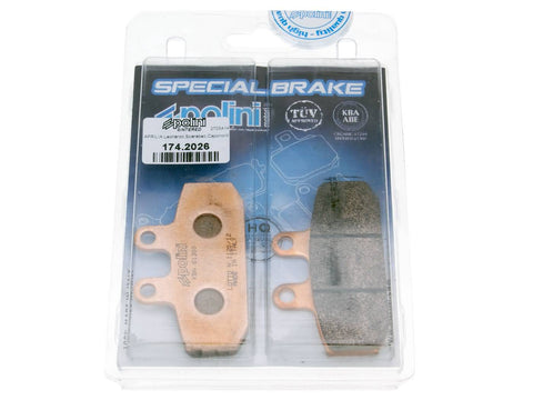 brake pads Polini sintered for Honda, Aprilia, Derbi