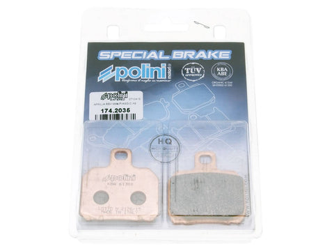 brake pads Polini sintered for Aprilia RS, CPI GTR, Peugeot Speedfight 3