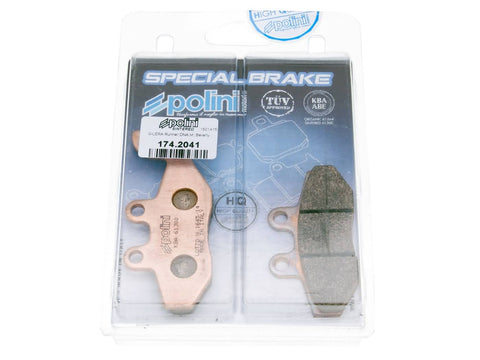brake pads Polini sintered for Gilera Runner, Piaggio Fly