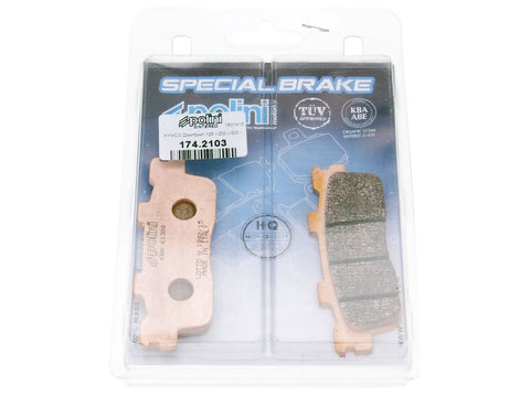 brake pads Polini sintered for Kymco Downtown 125, 300