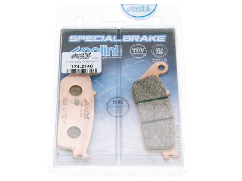 brake pads Polini sintered for Kymco Xciting 400i, Daelim, Kawasaki