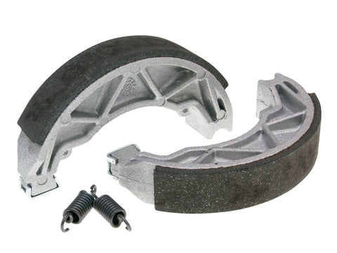 brake shoe set Polini 140x25mm w/ springs for drum brake for Piaggio 125 Fly, Liberty, Hexagon, Vespa Primavera