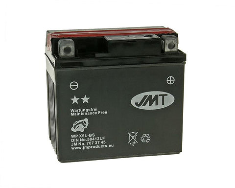 battery JMT MF maintenance free JMTX5L-BS