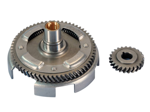 primary transmission gear up kit with clutch basket Polini 24/61 for Vespa ETS, PK, Primavera ET3, XL, 125