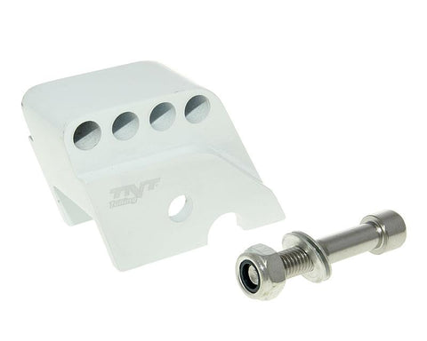 shock extender CNC 4-hole adjustable mounting white for Piaggio