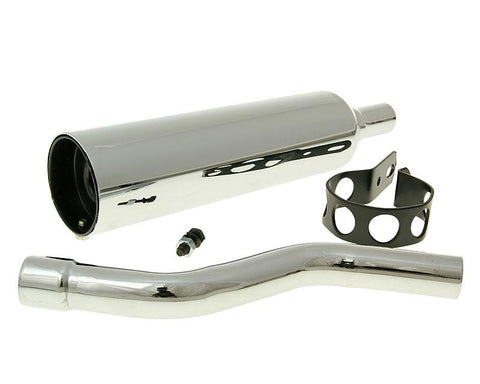 silencer / muffler chromed for Honda MT
