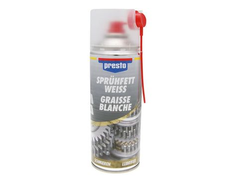 spray grease Presto adhesive lubricant white transparent 400ml