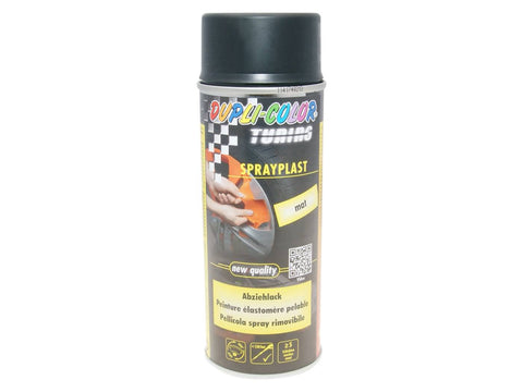 strippable lacquer Dupli-Color Sprayplast black mat 400ml