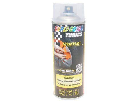 strippable lacquer Dupli-Color Sprayplast transparent glossy 400ml
