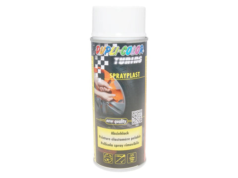 strippable lacquer Dupli-Color Sprayplast white glossy 400ml