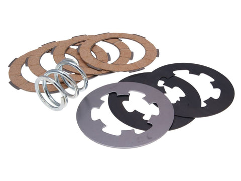 clutch disc set / clutch friction plates reinforced+ incl. spring Ferodo for Vespa 50, 90, 125 Primavera, ET3