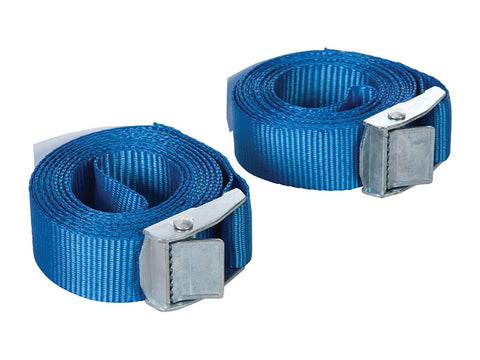 cam buckle tie-down straps Silverline 25mm x 2.5m, 2-piece