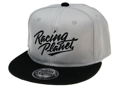 Racing Planet Snapback Hat / Snapback Cap gray / black unisize