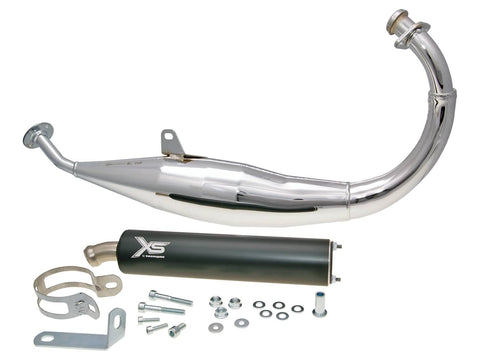exhaust Tecnigas XS chrome for Derbi, Aprilia, Gilera