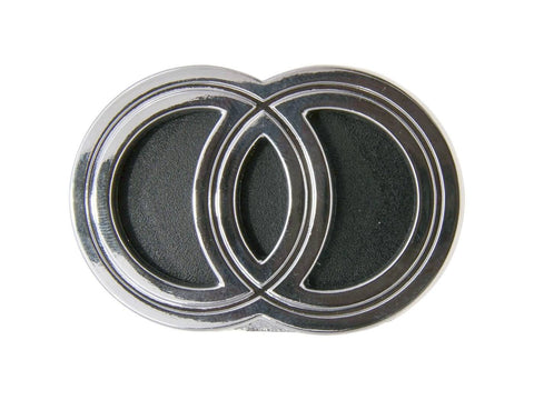 emblem / badge Gilera plastic to plug, chromed for Gilera Runner