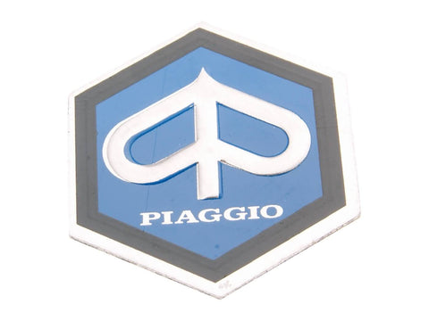 horn cover emblem / badge Piaggio 25x30mm aluminum to glue for Vespa PX, PE 80, 125, 200