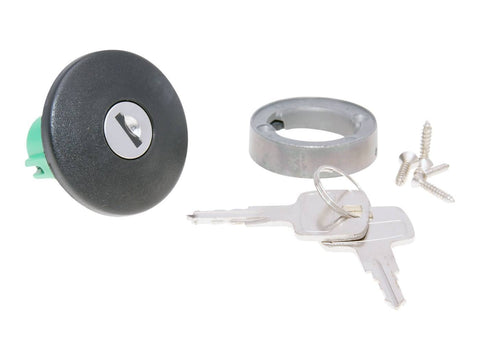 fuel tank cap / tank cover lockable small version 50mm / 29mm for Piaggio Ape P50, Ciao, Grillo